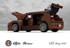 Alfa Romeo 147 5Dr Hatch (Type 937) (lego911) Tags: auto birthday italy car sport model italian 2000 lego fiat render alfa romeo hatch 7th 147 challenge compact cad 76 povray 5door 84 moc ldd vivaitalia miniland 937 5dr foitsop lego911 lugnts lugnutsturns7or49indogyears
