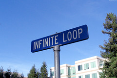 "Infinite Loop street sign (Apple Campus behind) • <a style=""font-size:0.8em;"" href=""http://www.flickr.com/photos/34843984@N07/15360273457/"" target=""_blank"">View on Flickr</a>"