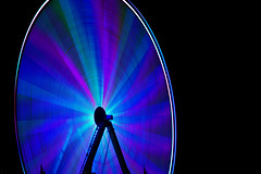 tightly wrapped (pbo31) Tags: california carnival blue motion color wheel northerncalifornia nikon october ride purple spin bayarea eastbay hayward traveling alamedacounty d800 2014 lightstream