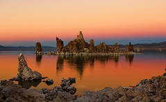 The Blue Hour turns orange at Mono Lake (Dave Toussaint (www.photographersnature.com)) Tags: california ca travel usa fall nature water northerncalifornia photoshop canon landscape island photo interestingness google interesting october photographer picture explore adobe getty bluehour norcal monolake adjust infocus 2014 highway395 easternsierra leevining southtufa cs6 denoise 60d topazlabs photographersnaturecom davetoussaint