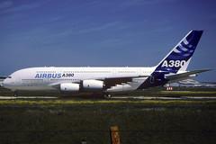 Airbus A380-841 F-WWOW TLS 27/04/2005 (jordi757) Tags: nikon airplanes airbus a380 kodachrome toulouse blagnac tls f90x kodachrome64 avions fwwow a380800 lfbo