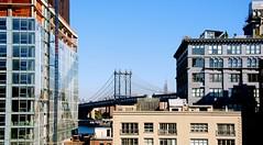 Brooklyn bridge (Maria Eklind) Tags: bridge sky newyork brooklyn buildings manhattan brooklynbridge skyscrapes