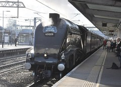 60009 Union of South Africa on The Jubilee Requiem at Peterborough 26th October 2014. (phil60007) Tags: stream a4 lner