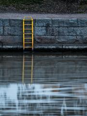 Speed Ladders (trm42) Tags: longexposure autumn reflection fall water suomi finland river flow helsinki rapid ladders syksy vanhankaupunginkoski tikapuut