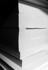 Day 261 (Wouter de Bruijn) Tags: blackandwhite bw monochrome book books stack 365 261 iphone iphone4