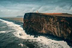 Lighthouse (markboldy) Tags: ocean lighthouse black beach nature wonderful see iceland rocks cliffs
