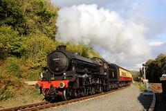 LNER Thompson B1 61034 'Chiru' - 2014-10-09 (BillyGoat75) Tags: locomotive thompson steamengine northyorkshire nymr northyorkshiremoorsrailway lner chiru 61034 b1class milepost814 huntingbridge