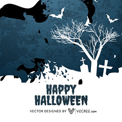 halloween illustration (vecree.com) Tags: autumn shadow moon holiday abstract tree halloween silhouette festival illustration fairytale dark pumpkin happy design scary october glow graphic background fear ghost seasonal bat evil haunted creepy spooky celebration invitation horror treat trick vector
