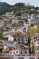 Taxco neighborhood (damonlynch) Tags: city church nature statue mexico scenery pretty neighborhood hills mexican land northamerica statuary picturesque taxco guerrero religiousstatue taxcodealarcn