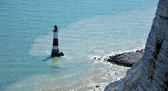 Beachy Head Lighthouse. East Sussex. (standhisround) Tags: uk sea england lighthouse water cliffs eastsussex beachyhead trinityhouse chalkcliffs