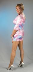 I See You Looking! (kaceycd) Tags: pumps highheels s tgirl stilettoheels pantyhose crossdress spandex lycra tg stilettos minidress sexypumps stilettopumps