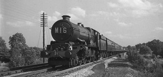 1961.  A GWR King Class 4-6-0 on the 1.10pm to Birkenhead.