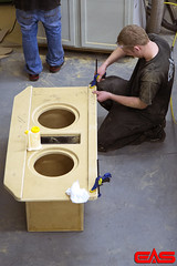 We build our subwoofer enclosures to fit your vehicle, as well as keep the volume and port size matched for the subs.