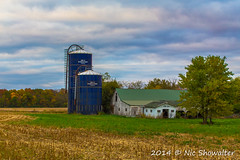The Statzer Place (Nic512) Tags: sunset fall barn illinois seasons unitedstates events barns places things mountzion maconcountyil
