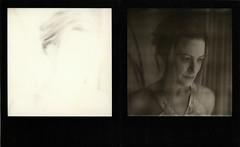 Light & Dark (LeandroF) Tags: camera light portrait film dark diptych sin instant blackframe polaroidsx70sonaronestep bwsx70 impossibleproject