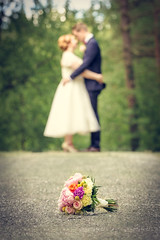Private moment (Jarkko T) Tags: wedding portrait people flower groom bride couple bouquet