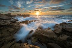 La Jolla (mojo2u) Tags: ocean california sunset sandstone sandiego lajolla 500px nikond800 bower14mm