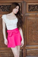 Miko - EH - 005 (jasonlcs2008) Tags: street pink woman white sexy girl beautiful fashion asian model singapore pretty photoshoot miko emerald venom 2014 emeraldhill jasonlcs