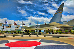 B-52 (Martin Carey) Tags: 2005 sky museum clouds america canon star colorado unitedstates hangar engine denver flags flagpole airforce usaf usairforce b52 airspacemuseum undercarriage redcircle canonphotography wingsovertherockies canoneos60d may262013