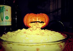 Guacamole from Hell (Arivan Miculis Reigota) Tags: party halloween canon pumpkin amazing lomo head awesome fake pumpkinhead guacamole festa fauxlomo pinga cachaa aguardente abacate abobora flomo sx150 agropinga