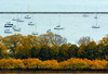 Lakefront Layers (Andy Marfia) Tags: autumn trees chicago fall water boats harbor iso400 lakemichigan grantpark 70300mm f8 lakefront monroeharbor cliffdwellers 11250sec d7100 openhousechicago 220smichiganave ohc2014