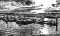 Whitby marina bw (Andreadm66) Tags: uk blackandwhite water monochrome marina boats yorkshire whitby northyorkshire