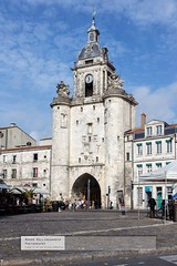Town Entrance (doublejeopardy) Tags: france tower harbour places pisa larochelle continent leaning poitoucharentes otherkeywords