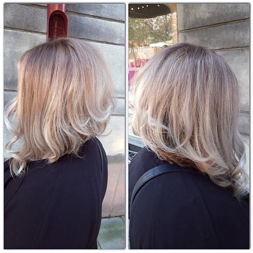 Bästa Rasema gick från lååångt hår till en snygg trendig framåtlutad page  och en kall beige
