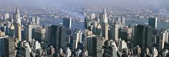 1972 - Midtown MANHATTAN, NEW YORK (cobravictor) Tags: nyc newyorkcity bridge ny skyline river stereoscopic 3d skyscrapers manhattan aerialview newyorkskyline stereopair chryslerbuilding 1972 underconstruction unbuilding midtownmanhattan stereographs 3dstereo