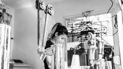 on tap (lancenesbitt) Tags: light arizona white black beer phoenix girl field neon state drink sony fair cash plastic cups liquor vendor register tap depth nex nex5