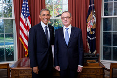 EU Ambassador David O'Sullivan presents his credentials to President Barack Obama