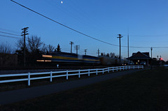 The days are getting shorter (chief_huddleston) Tags: minnesota depot canadianpacific hastings cp mn mrl 281 dme6070 dme6083 nowpinchhittingforjosecardinalmannymota