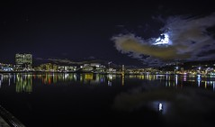Oslo Opera house and Barcode (cpphotofinish) Tags: ocean travel blue light urban panorama color colour reflection water weather yellow oslo norway night clouds canon outside eos bay boat norge photo reflex opera cityscape foto nightshot image cloudy harbour outdoor mark tourist panoramic norwegian nightlight nordic usm dslr havn bilder vann oslofjord bluelight kaia oslofjorden hst bilde norske farger mk3 turist osloharbour snhetta vippetangen canonef bjrvika oslooperahouse ef14mmf28lusm carstenpedersen canonmkiii mklll eos5dmk3 oslobay cpphotofinish canonredlable oslonorgenorwayvinterwintersunsetgrassgresscanoncanon5dmkiiimk324105christmasxmasromjulafternoonshadowlightsunlightlightroom dslroslofjordfjord