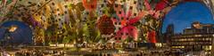The Roof of the Markthal Rotterdam *explored* (Mark Meijrink) Tags: roof panorama food color modern hall rotterdam blaak nightshot nacht kitlens foodies fresco atnight modernarchitecture architectuur dak markethall dutchdesign theroof snachts markthal modernearchitectuur nikon1855mm colorfuldisplay modernfresco huginautostitch itsallaboutfood nikond7100 foodwalhalla