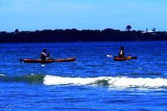 Long Bay (SKR_Photography) Tags: november blue people beach water spring kayak waves crab cliffs kayaking canoeist sunnyday longbay hotday 2014 longbaybeach