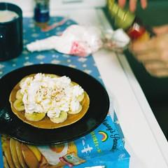 home (OFTO) Tags: film cooking 35mm pentax k1000 superia banana fujifilm pancake 2014 c200 fujicolor smcpentaxm1250mm