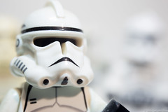 Lego Storm Trooper (sciiyosata) Tags: white storm trooper up closeup canon eos star high mod key close lego f16 modified wars 80 35 ef mods 6d