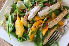 Greens with Mango, Avocado & Creamy Ceasar Dressing (Vegan Feast Catering) Tags: avocado salad vegan caesar mango lime kale spinach creamy pecans beyondmeat