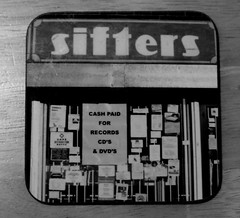 MoNovember 13 - Sifters coffee coaster (zawtowers) Tags: white black coffee monochrome shop fog 50mm mono famous oasis lane mug record coaster burnage fifty lyric shakermaker sifters monovember afsnikkor50mmf18g