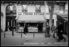 Suivie (Maestr!0_0!) Tags: street people urban white black paris men girl noir candid rue montparnasse blanc urbain epicerie