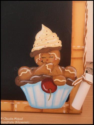 """Tábua-quadro de cozinha """"Sweet Cupcake"""""""