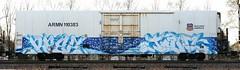 Reez/Tawl (quiet-silence) Tags: railroad art train graffiti fb railcar kfc unionpacific graff freight lords reefer armn fr8 endtoend e2e reez tawl armn110383
