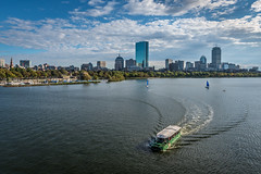 Charles River, Boston (Nicolas Willemin) Tags: boston city layover ship charles river charlesriver backbay sunset golden goldenhour evening