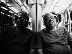 Him (Adelobra01) Tags: bn bw monocromtico monocromo blackandwhite train portrait retrato