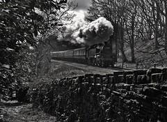 British Railways  Standard Tank in Monochrome (garstangpost.t21) Tags: flickrunitedaward 80080 britishrailways lumbs 4mt eastlancashirerailway elr buryboltonstreet rawtenstall