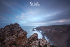 Study hard so that you can master technology, which allows us to master nature (FGFMartins) Tags: ravines seascape landscape waterscape water cliff rocks sky clouds nature portugal leiria