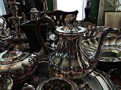 Inside the Antique Store (Tim7778) Tags: silver teapot stilllife indoors