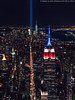 Aerial Tribute in Light - 9/11/16 (DSC09671) (Michael.Lee.Pics.NYC) Tags: newyork tributeinlight 2016 aerial helicopter flynyon esb empirestatebuilding onewtc worldtradecenter fifthavenue architecture cityscape night midtown lowermanhattan sony a7rm2 fe2470mmgm