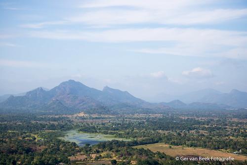 View from Sigiriya Lion Rock Fortress, Zicht vanaf de Leeuwenrots, Sigiriya