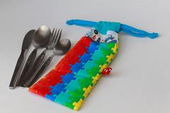Talheres / Cutlery (Canela Cheia) Tags: canelacheia cartã£o cutlery fabric paperbags patchwork retalhos sacos taleigo talheres tecido